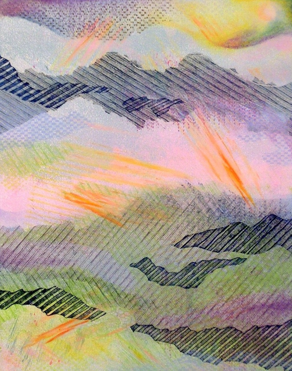 Weather Patterns #1, monotype