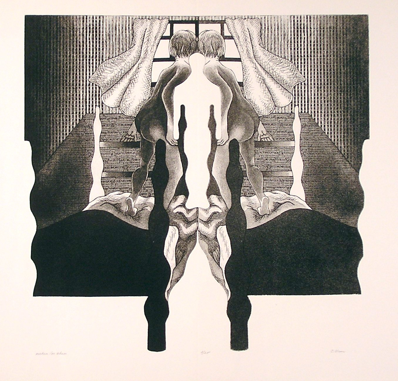 "madam i'm adam, intaglio, 24 x 25"" (twin series)"