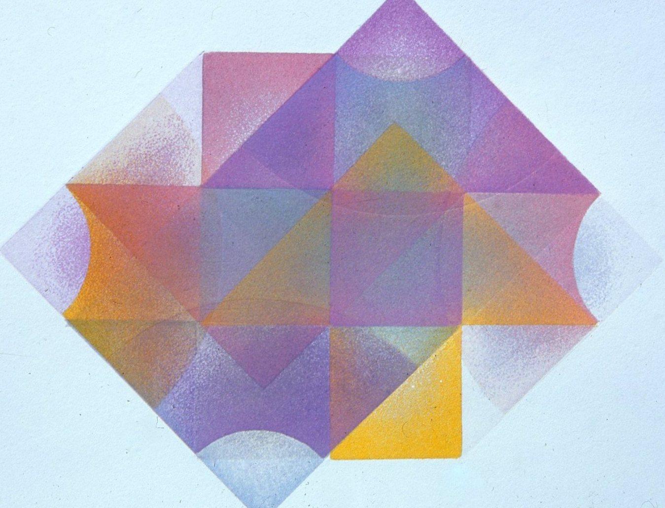 "Arcs and Arrows, aquatint, Geometric Series, 8 x 10"""