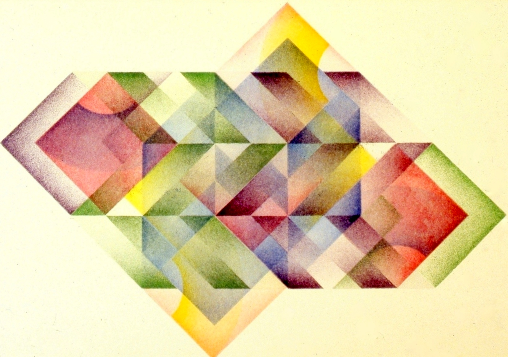 "Squares and Stripes, aquatint, Geometric Series, 15 x 20"""